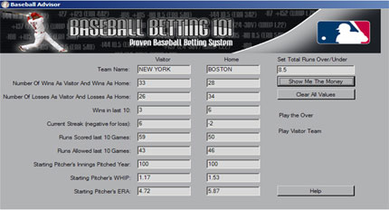 Baseball Betting Screenshot